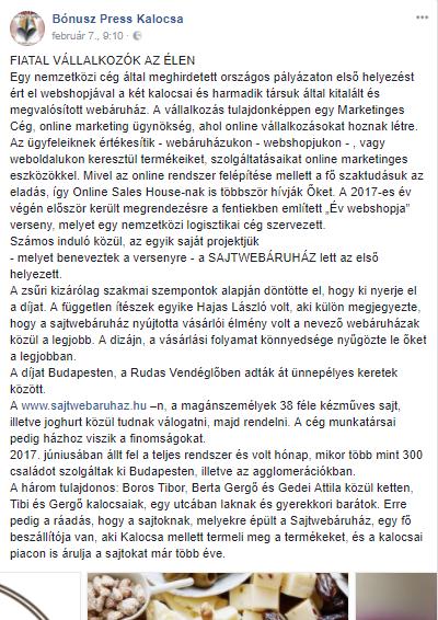 Bónusz Press Kalocsa