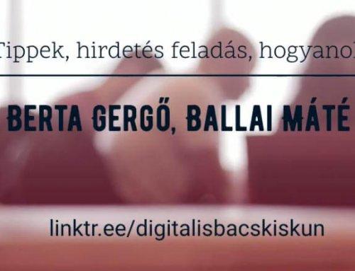 Online marketing képzés Berta Gergővel Kiskőrösön